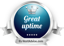 HostAdvice Great Uptime Award for TheHost.ua