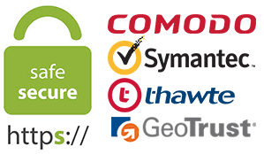 SSL certificates Sectigo/Comodo, GeoTrust, Digicert, Thawte, RapidSSL